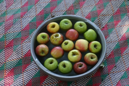 Apples for Halloween.