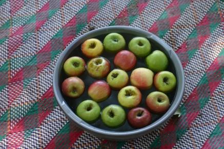 Apples for Halloween.