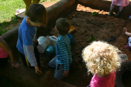 My job included the opportunity to take pictures of cute elementary students playing in sand.