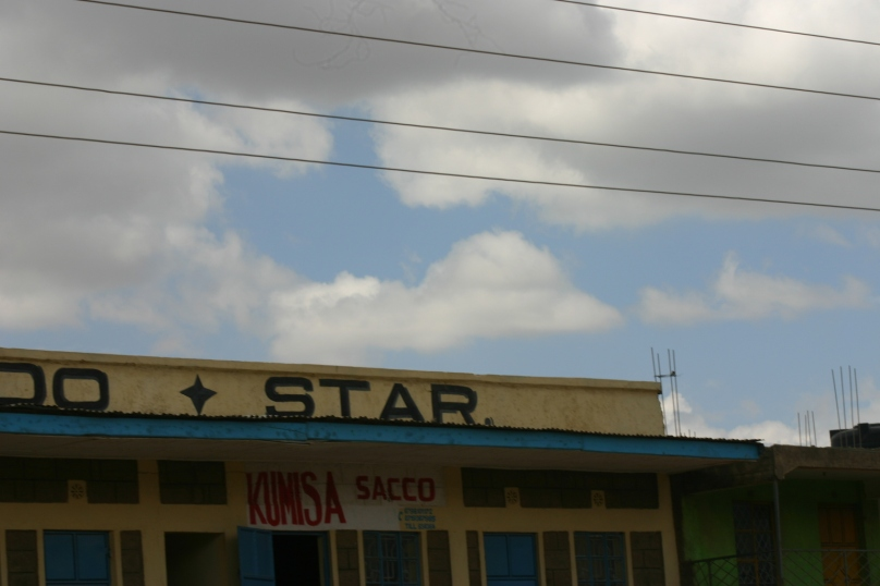 A corner of many curious little lines of shops that line many rural Kenyan roads.