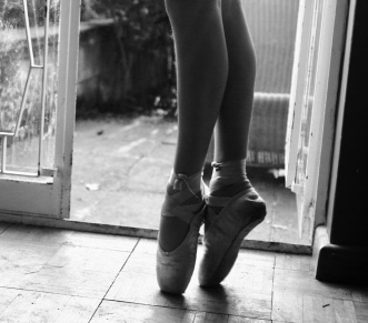My sister en pointe. She's an amazing dancer - it only took her three months to be able to dance in these shoes!