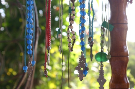 Some of the jewelry that the women in Sanata make.