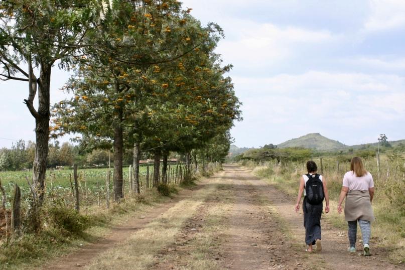 Elie and Sarah walk to Restart.