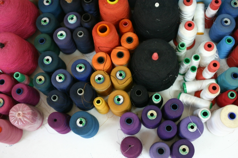 A rainbow of thread.