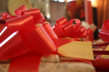Christmas presents for the children at Restart!