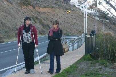 Aunt Cheryl is amazing - she made it all across the city of Granada on crutches