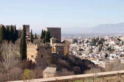 The edge of the Alhambra.